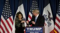 """Sarah Palin a notamment fustigé les autres candidats à la primaire, """"qui portent le politiquement correct comme une ceinture d'explosifs""""."""