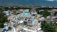 La ville de Palu a subi d'importantes destructions à la suite du tsunami du 28 septembre.