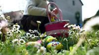 La chasse aux oeufs de Pâques est prévu pour ce week-end du 15-16-17 avril