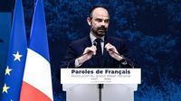 Le Premier ministre, Edouard Philippe, fait la «restitution» du grand débat national, lundi 8 avril, au Grand Palais à Paris.