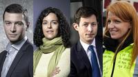 Jordan Bardella (RN), Manon Aubry (LFI), François-Xavier Bellamy (LR) et Ingrid Levavasseur (gilets jaunes) font partie des têtes de liste pour les élections européennes de mai prochain.