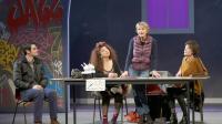 Miou-Miou sur scène entourée de Julien Personnaz, Isabelle de Botton et Brigitte Catillon