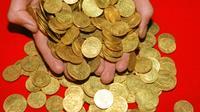 Ces pièces d'or étaient, jusqu'à récemment, abritées dans le coffre-fort d'une banque. (illustration)
