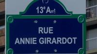 La rue Annie Girardot a été inaugurée en 2012, dans le 13e arrondissement de Paris.