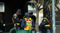 La police sud-africaine.