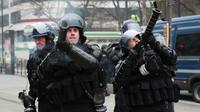 La grenade GLI-F4 peut être tirée en cloche par les forces de l'ordre [Zakaria ABDELKAFI / AFP].