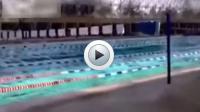 """Vidéo : une piscine """"à vagues"""" lors d'un séisme"""