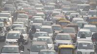 Des embouteillages à New Delhi, l'une des villes les plus polluées au monde.