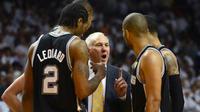 Gregg Popovich et les Spurs font encore figure de favoris pour le titre NBA cette saison.