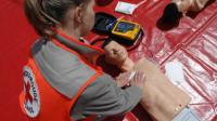 Initiation aux gestes qui sauvent par la Croix Rouge ©F. DURAND/SIPA
