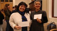 Rose-Marie Comité et Francia Delgado à la remise du Prix Michel Giraud, à Paris.