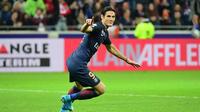 Dans sa quête d'un septième titre de champion de France, le PSG pourra compter sur Edinson Cavani, auteur de 40 buts depuis le début de la saison.