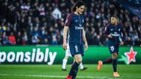 Edinson Cavani et les Parisiens ont quitté la Ligue des champions la tête basse.