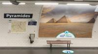 Dix stations sont dotées d'affiches «trompe l'oeil», à l'occasion du 1er avril.