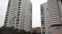 Vue prise le 12 octobre 2010 des immeubles de la cité Mistral de Grenoble.