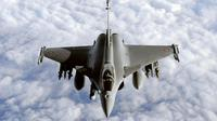 L'avion de chasse Rafale.