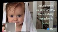 La petite Arianna survit grâce à l'hémodialyse