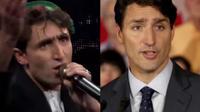 Salam Abdul Maftoon (g) a été très vite rebaptisé «Salam Trudeau», du fait de sa ressemblance avec le Premier ministre canadien (d).