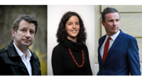 Yannick Jadot (EELV), Manon Aubry (LFI) et Nicolas Dupont-Aignan (Debout la France) seront têtes de liste pour leur parti lors des élections européennes du 26 mai prochain.