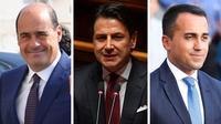 Nicola Zingaretti, patron du Parti démocrate, Giuseppe Conte, Premier ministre sortant, et Luigi Di Maio, chef du Mouvement 5 Etoiles, seront les trois hommes forts du nouveau gouvernement.
