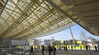 La Canopée des Halles, livrée le 5 avril dernier, n'avait pas été conçue pour être étanche.