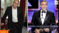 gary Tate (g) sosie de George Clooney (d). Gary Tate a déclaré qu'un homme lui aurait proposé de l'argent pour qu'il couche avec sa femme en cadeau pour son 40 e anniversaire