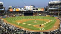 La scène cocasse s'est déroulée dans le stade de base-ball Yankee Stadium, à New York.