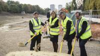 Patrick Kanner, Valérie Pécresse et Olivier Klein ont inauguré la deuxième phase de travaux du tramway T4.