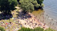Une plage en Suède. Image d'illustration.