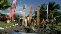 Un rassemblement au mémorial des essais nucléaires à Tahiti, le 2 juillet 2016.