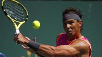 Rafael Nadal faisait son retour à la compétition après un mois d'absence.