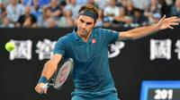 Roger Federer était double tenant du titre à Melbourne.