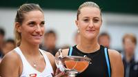 Kristina Mladenovic a remporté son troisième trophée en double dames en Grand Chelem.