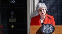 La voix étranglée par l'émotion, Theresa May a précisé qu'elle démissionnerait le 7 juin.