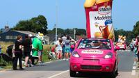 La caravane publicitaire du Tour de France est composée de 170 véhicules.