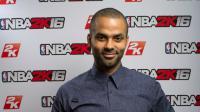 Tony Parker figure sur la jaquette du jeu NBA 2K16 en France.