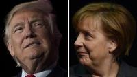 Le président américain s'apprête à recevoir la chancelière allemande à la Maison Blanche.