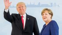 La chancelière Angela Merkel accueille le président Donald Trump à Hambourg, le 6 juillet.