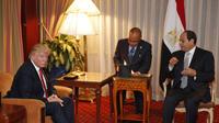 Donald Trump et Abdel Fattah al-Sissi se sont rencontrés une première fois en septembre 2016.
