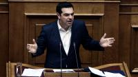 Le Premier ministre grec Alexis Tsipras, au parlement grec, à Athènes, dimanche 22 mai.