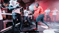Souleymane Cissokho est allé à la rencontre des jeunes du 19e arrondissement pour une session boxe.