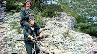 Les acteurs Louis de Funès et Bourvil, dans le film «La Grande Vadrouille» de Gérard Oury, sorti en 1966.
