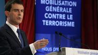 Le Premier ministre Manuel Valls mercredi, lors de la présentation du plan anti-terroriste.
