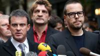 Manuel Valls et Nicolas Demorand, directeur de la publication