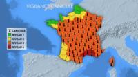 Les Bouches-du-Rhône, le Gard, l'Hérault et le Vaucluse ont été placés en vigilance rouge : une première en France.