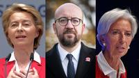 L'Allemande Ursula von der Leyen, le Belge Charles Michel et la Française Christine Lagarde sont trois des nouveaux dirigeants des institutions européennes.