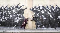 La réalisatrice Agnès Varda et le photographe JR se sont rencontrés en 2015.
