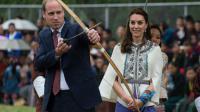 Le couple princier a eu le droit de s'approcher des cibles. Sans succès.