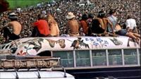 En août 1969, le festival de Woodstock avait réuni quelque 500 000 personnes, à Bethel, dans l'Etat de New York, aux Etats-Unis. [AFP]