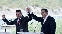 Les chefs de gouvernements macédonien et grec, Zoran Zaev et Alexis Tsipras, le 17 juin.